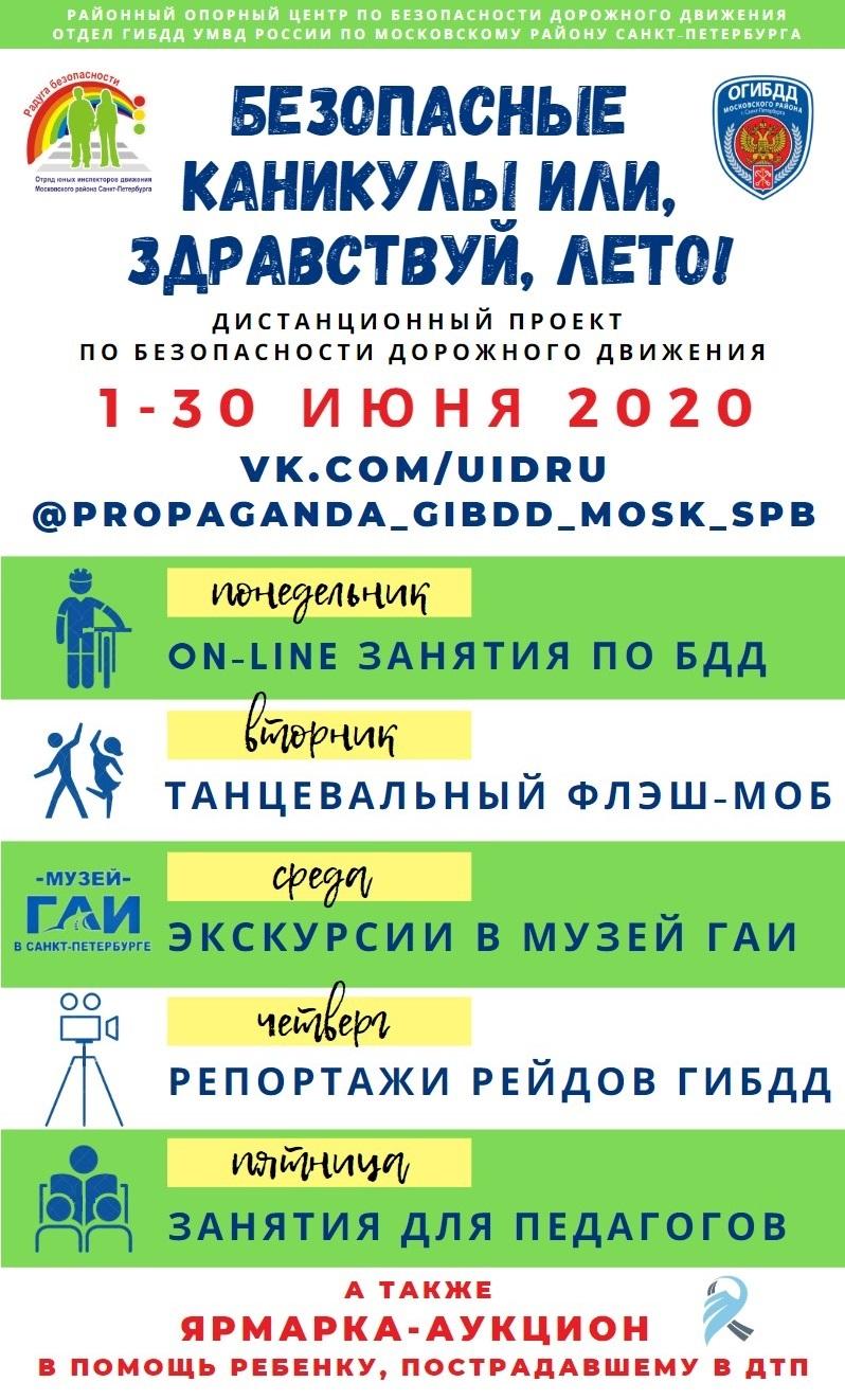 Плакат Безопасные каникулы